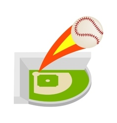 Strike ball isometric 3d icon vector