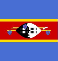 Swaziland flat flag vector