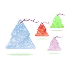 tags christmass tree vector image