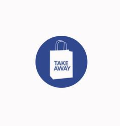 Take away bag icon vector