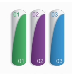 Three bookmarks vector image
