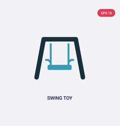 two color swing toy icon from toys concept vector image