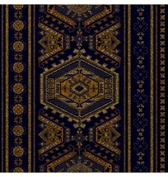 Vertical ornamental seamless pattern Dark ethnic vector image