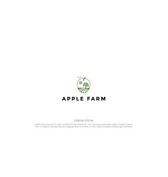 vintage retro apple land farm logo design vector image