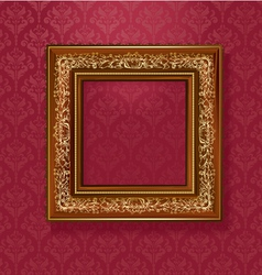 vintage wallpaper frame vector image