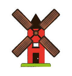 Wind mill icon image vector
