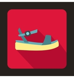 Women platform sandal icon flat style vector image