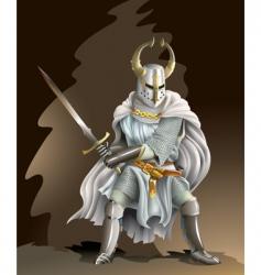 crusader vector image vector image