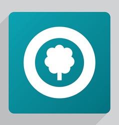 flat tree icon vector image