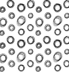 Hand drawn black circles seamless pattern vector image vector image