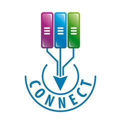 logo connect to server data vector image