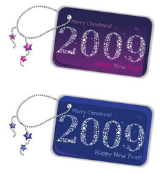 new year trinket tags 2009 vector image