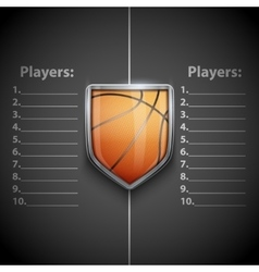 Poster Template of Basketball Emblem vector image vector image