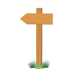 Wooden sign post vector image
