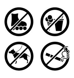 Do not icon vector image