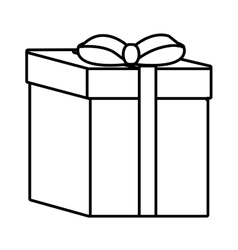 gift box ribbon event celebrate linear vector image