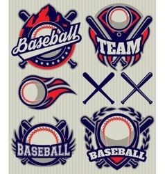 set sports template with ball and bats for vector image vector image