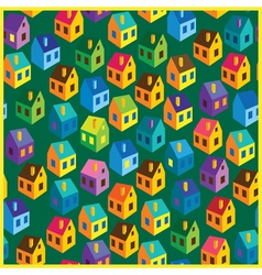 summer houses pattern vector image vector image