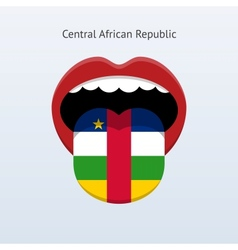 Central African Republic language Abstract human vector image
