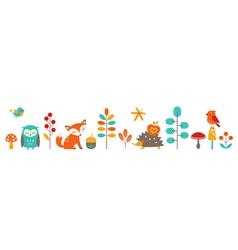 Cute autumn vector image vector image