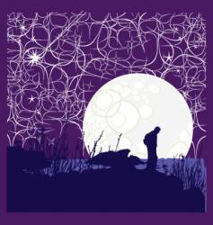 night of a million stars vector image vector image