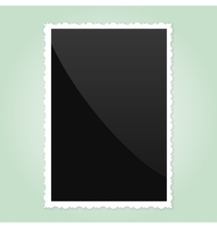 Retro Photo Frame On green Background vector image vector image