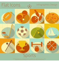 Sports in Retro Style vector image