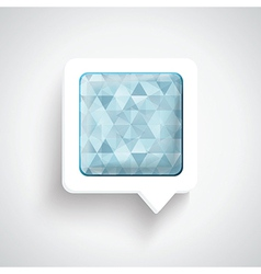 Abstract 3D Design - Speech bubble blue vector image vector image