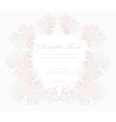 abstract floral frame invitation card vector image vector image