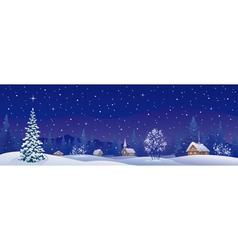 Christmas village banner vector image
