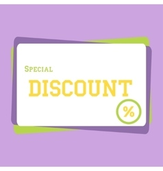 discount large banner vector image vector image