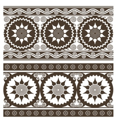 scroll abstract indian pattern vector image