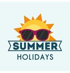 Summer holidays sunny sunglasses card vector