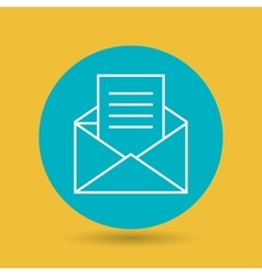 symbol of envelope blue isolated icon design vector image vector image