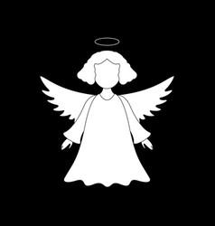 a christmas angel of icon merry christmas vector image