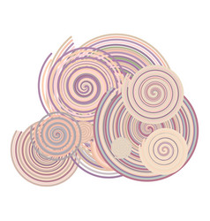 abstract conceptual geometric twirl circle lines vector image