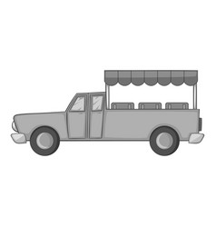 Asian taxi icon monochrome vector