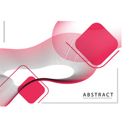 background with dynamic linear waves vector image