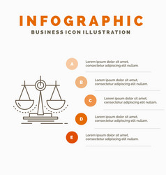 Balance decision justice law scale infographics vector