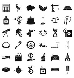 Balance icons set simple style vector