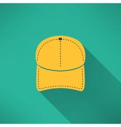 Baseball cap with long shadow National american vector