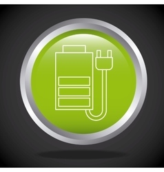 Battery and plug icon vector