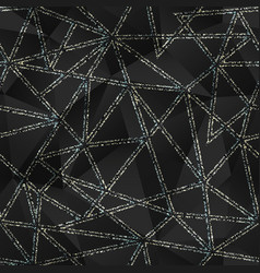 black triangle pattern with grunge effect vector image