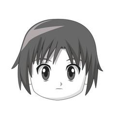 Boy anime male manga cartoon comic vector