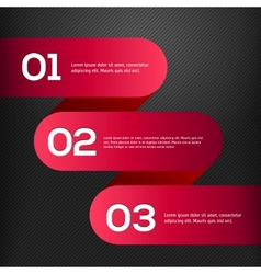 bright 3D red banners set vector image