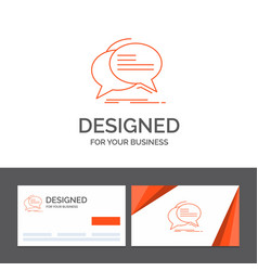 business logo template for bubble chat vector image