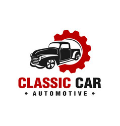 car repair logo design vector image