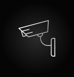 cctv concept silver icon in thin line style vector image