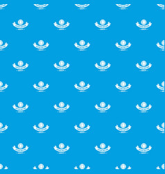 clothes button retro pattern seamless blue vector image