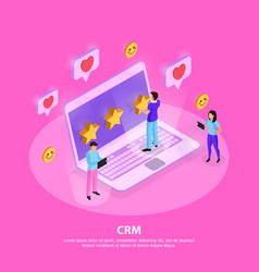 crm system isometric vector image
